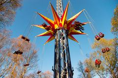 Amusement park in autumn Stock Photos