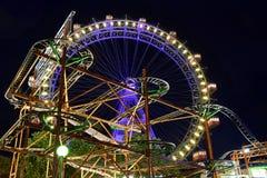 Amusement park,back to childhood. Royalty Free Stock Photo