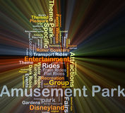 Amusement park background concept glowing Royalty Free Stock Image