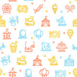 Amusement Park Background Pattern. Vector Stock Images