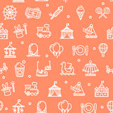 Amusement Park Background Pattern. Vector Royalty Free Stock Image