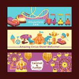 Amusement Park Banners Royalty Free Stock Photography