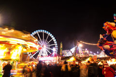 Amusement park. In berlin by night Stock Image