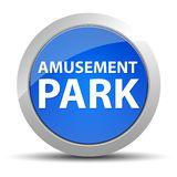 Amusement Park blue round button stock illustration