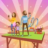 Amusement park cartoon Royalty Free Stock Images