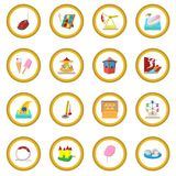 Amusement park cartoon icon circle. Cartoon isolated vector illustration Stock Image