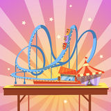 Amusement park cartoon Royalty Free Stock Images
