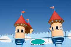 Amusement park castle Royalty Free Stock Photos