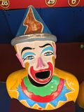 Amusement Park Clown Face Game Stock Image