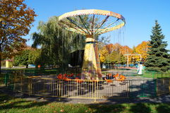 In the amusement park complete season. autumn has come Stock Photography