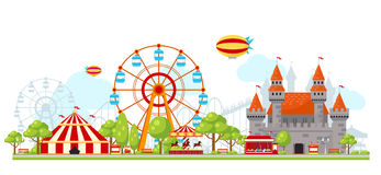 Amusement Park Composition Royalty Free Stock Images