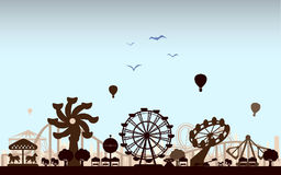 The Amusement Park. Concept of isolated trendy the Amusement Park vector illustration