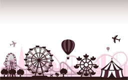 The Amusement Park. Concept of isolated trendy the Amusement Park stock illustration