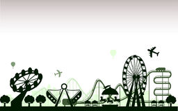 The Amusement Park. Concept of  trendy the Amusement Park Stock Photography