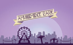 The Amusement Park. Concept of trendy the Amusement Park vector illustration