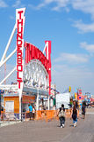 The amusement park at Coney Island in New York on a beautiful s Stock Photography