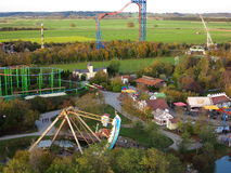 Amusement park countryside aerial view Royalty Free Stock Photos