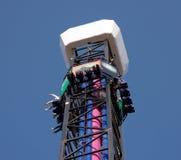 Amusement park device. Extreme elevator in  amusement park Stock Image