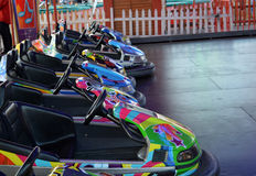 Amusement Park Electric Racing Cars Stock Image
