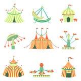 Amusement Park Elements Collection Stock Image