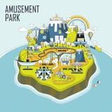 Amusement park elements Royalty Free Stock Image