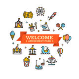 Amusement Park Embleme. Vector. Amusement Park Embleme Can Be Used for Cards, Posters. Vector illustration Stock Photos