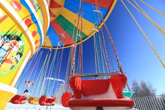 Amusement park. Empty amusement park in winter Royalty Free Stock Images