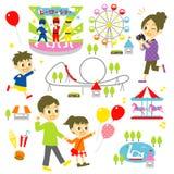 Amusement park, family Royalty Free Stock Photos