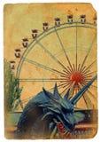 Amusement park, a Ferris wheel. Stock Photos
