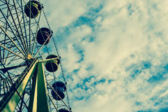 Amusement Park, Ferris wheel. Royalty Free Stock Photo