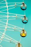 Amusement park ferris wheel in Royalty Free Stock Image