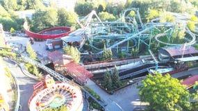 Amusement Park. Fun rollercoaster in an amusement park in Helsinki, Finland royalty free stock photo