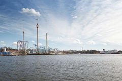 The amusement park Grona Lund from the seaside Stock Photos