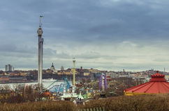 The amusement park Grona Lund in Stockholm stock photography