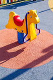 Amusement park, horse toy Royalty Free Stock Images