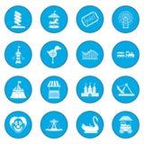 Amusement park icon blue Stock Image