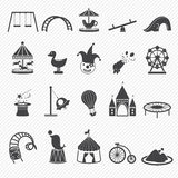 Amusement Park icons Royalty Free Stock Photos