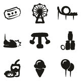 Amusement Park Icons Freehand Fill Royalty Free Stock Photography