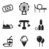 Amusement Park Icons Stock Photo