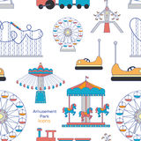 Amusement Park icons pattern Royalty Free Stock Images