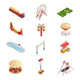 Amusement Park Icons Set Stock Image