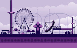 Amusement park illustration stock photos