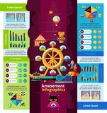 Amusement Park Infographics Stock Images