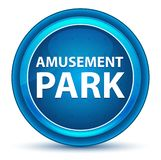 Amusement Park Eyeball Blue Round Button royalty free illustration