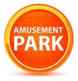 Amusement Park Natural Orange Round Button. Amusement Park Isolated on Natural Orange Round Button vector illustration