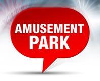 Amusement Park Red Bubble Background. Amusement Park on Red Bubble Background stock illustration