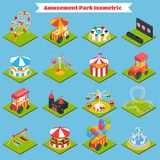 Amusement Park Isometric Stock Images