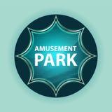 Amusement Park magical glassy sunburst blue button sky blue background vector illustration