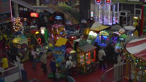 Amusement park at the Mall. HD amusement park at the Mall stock video footage