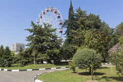 Amusement Park `Metro Park` resort town of Adler, Sochi Stock Photography